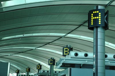 Terminal gate indicators at Toronto's Pearson Aiport